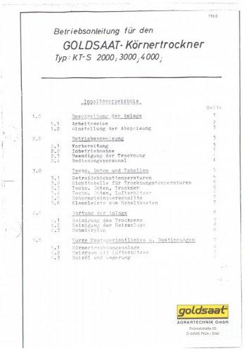 Anleitung - KTS 2000 / 3000 / 4000