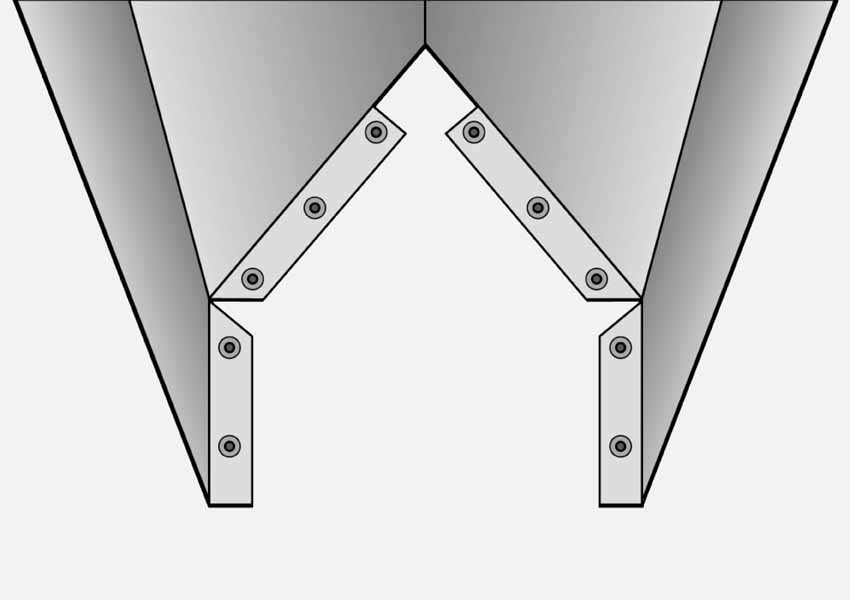 goldsaat Trockner Technik - Befestigung der Luftvorrichtung Querschnitt