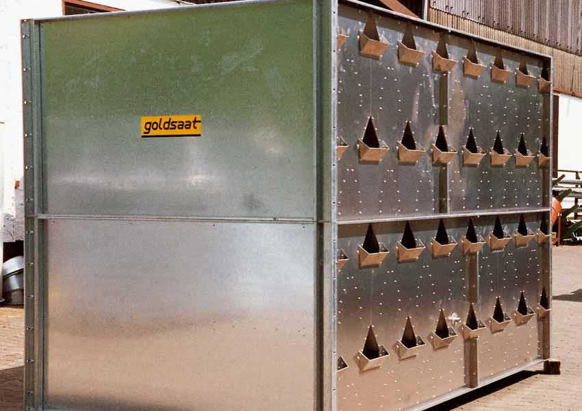 goldsaat Trockner Technik - Trocken- bzw. Kühleinheit mit Fangtaschen