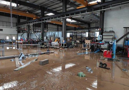 Hochwasserschäden auf dem Goldsaat-Gelände